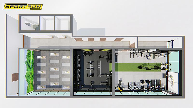 Setup phòng Gym Mỹ Đình Pearl